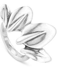 Uno De 50 Leaf Me Alone Ring - Metallic