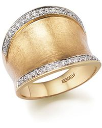 Bloomingdale's - Diamond Wide Band In Matte 14k Yellow Gold, .30 Ct. T.w. - Lyst