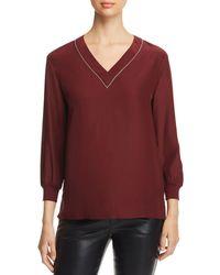 Lafayette 148 New York - Wanda Embellished Silk Blouse - Lyst