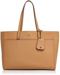 89817938fb3 Tory Burch - Robinson Leather Tote - Lyst