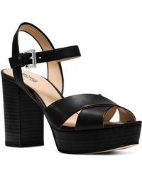 MICHAEL Michael Kors - Women's Divia Leather Platform Sandals - Lyst