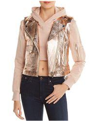 Doma Leather - Hoody & Detachable Metallic Vest - Lyst