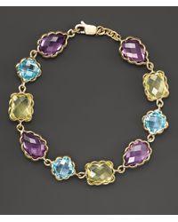 Bloomingdale's - Amethyst, Blue Topaz And Prasiolite Bracelet In 14k Yellow Gold - Lyst