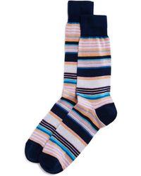 Bloomingdale's - Striped Socks - Lyst