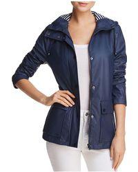 Aqua | Hooded Raincoat | Lyst