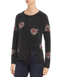 Lucky Brand - Floral-embroidered Sweatshirt - Lyst