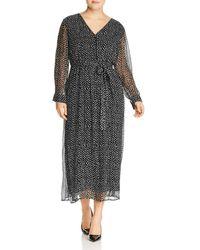 Lucky Brand - Dot Print Maxi Dress - Lyst