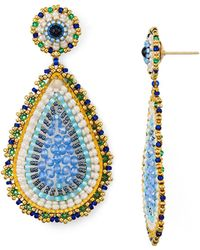 Miguel Ases - Teardrop Drop Earrings - Lyst