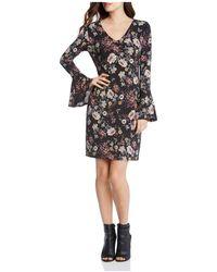 Karen Kane - Floral Print Bell Sleeve Dress - Lyst