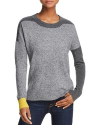 Aqua - Color-block Cashmere Sweater - Lyst