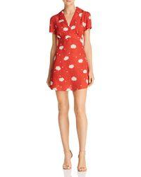 Cotton Candy - Floral-print Notch-lapel Dress - Lyst