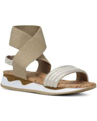 Donald J Pliner - Women's Shaye Leather & Stretch Ankle Strap Sandals - Lyst