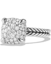 David Yurman - Châtelaine Ring With Diamonds In Sterling Silver - Lyst