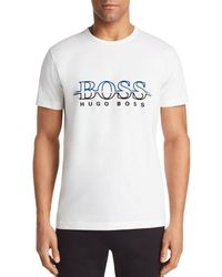 BOSS - Logo Crewneck Tee - Lyst