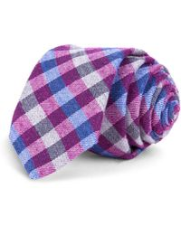 Ted Baker - Multicolored Gingham Skinny Tie - Lyst