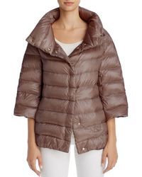 Herno - Funnel-neck Down Coat - Lyst