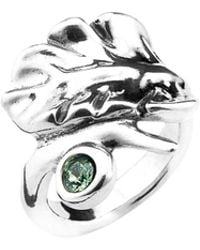 Uno De 50 - Leaves Crystal Cocktail Ring - Lyst