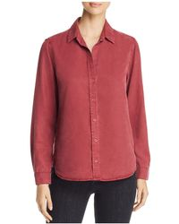 Side Stitch - High/low Button Down Shirt - Lyst