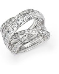Bloomingdale's - Diamond Crossover Ring In 14k White Gold, 3.0 Ct. T.w. - Lyst