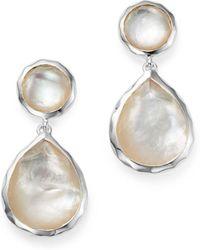 Ippolita - Sterling Silver Rock Candy Snowman Post Earrings In Mother-of-pearl - Lyst