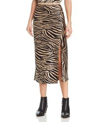 Anine Bing - Dolly Silk Zebra-print Midi Skirt - Lyst