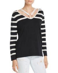 Avec - Striped Strappy Sweater - Lyst
