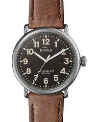 Shinola - Men's 47mm Runwell Watch Tan - Lyst