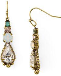 Sorrelli - Crystal Linear Drop Earrings - Lyst