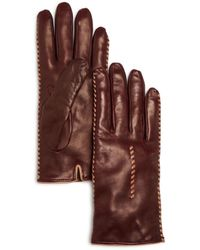 Bloomingdale's - Cashmere Lined Whipstitch Leather Gloves - Lyst