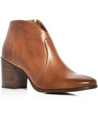 Frye - Women's Nora Leather Block Heel Booties - Lyst