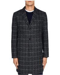 Ted Baker - Ando Checked Overcoat - Lyst