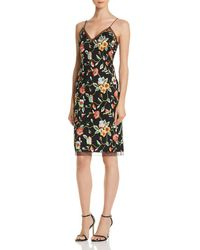 Aidan By Aidan Mattox - Floral Embroidered Dress - Lyst
