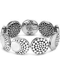 John Hardy - Sterling Silver Dot Hammered Moon Bracelet - Lyst