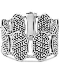 Lagos - Sterling Silver Bold Caviar Ellipse Link Bracelet - Lyst