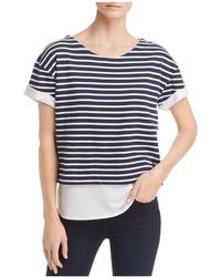 Marc New York - Performance Layered-look Striped Top - Lyst