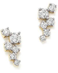 Adina Reyter - 14k Yellow Gold Scattered Diamond Stud Earrings - Lyst