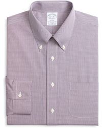 Brooks Brothers - Micro-checked Classic Fit Dress Shirt - Lyst