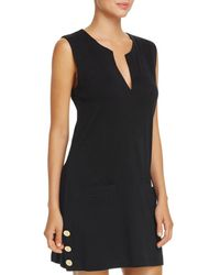 Ralph Lauren - Lauren Button Tunic Swim Cover-up - Lyst