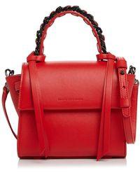 Elena Ghisellini - Angel Sensua Mini Top Handle Leather Handbag - Lyst