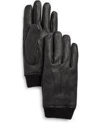 John Varvatos - Classic Knit Cuff Gloves - Lyst
