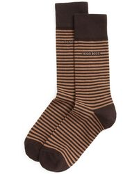 BOSS - Combed Cotton Stripe Socks - Lyst