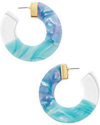 BaubleBar - Dessa Multicolor Resin Hoop Earrings - Lyst