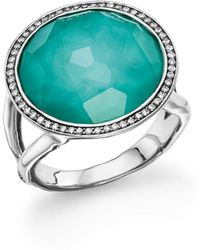 Ippolita - Sterling Silver Stella Lollipop Ring In Turquoise Doublet With Diamonds - Lyst