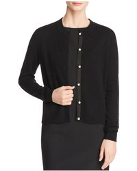 C By Bloomingdale's - Faux-pearl Button Cashmere Cardigan - Lyst