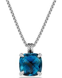 David Yurman - Châtelaine Pendant Necklace With Hampton Blue Topaz And Diamonds - Lyst