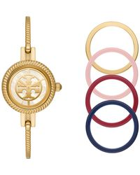 Tory Burch - Reva Bangle Watch, Multi-color/gold-tone, 29 Mm - Lyst