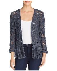 NIC+ZOE - Nic+zoe Fiji Waves Lace-knit Fringed Jacket - Lyst