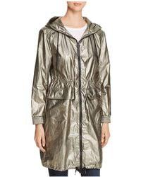 Avec Les Filles - Long Metallic Leaf Windbreaker Jacket - Lyst