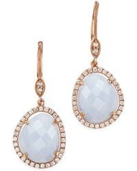 Meira T - 14k Rose Gold Chalcedony Dangle Earrings - Lyst