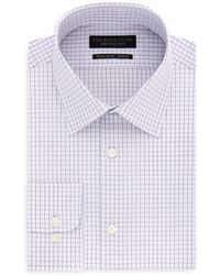 Bloomingdale's - Tattersall-check Regular Fit Dress Shirt - Lyst